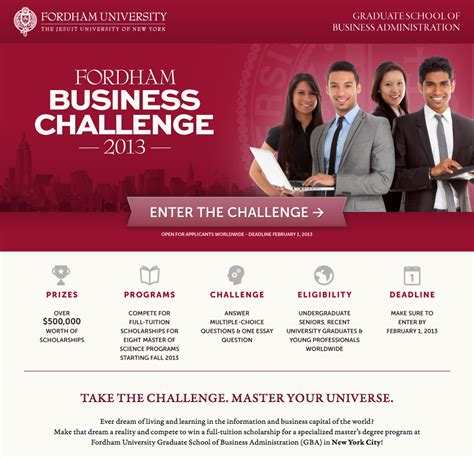 Fordham Mba Program Tuition by Win A Master S Scholarship To Fordham Gba 187 Gabelli Connect