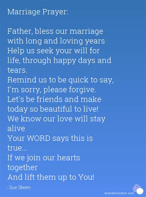 Let me mend our marriage prayer