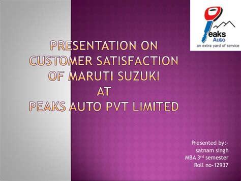 Mba Ppt On Satisfaction by Presentation On Customer Satisfaction