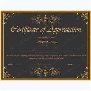 certificate of appreciation 02 word layouts