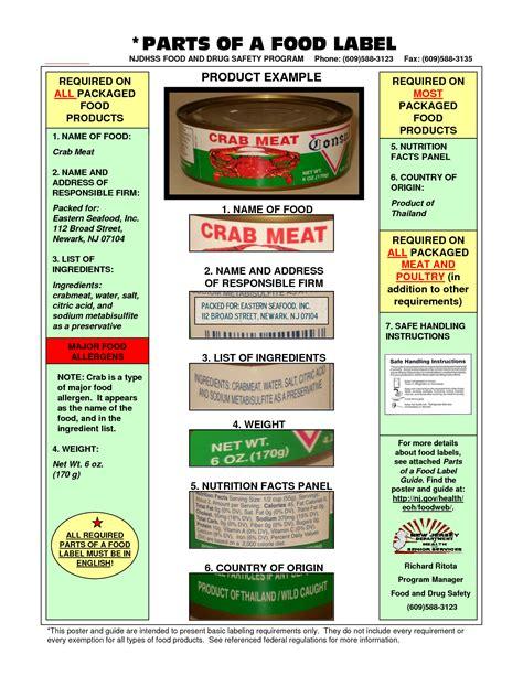 printable nutrition labels 6 best images of exles of food labels printable