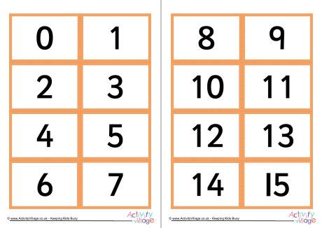 small printable number cards 1 100 number cards 1 20 best photos of cut out numbers 1 20