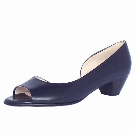 low heel shoes kaiser itha low heel open toe shoes in navy