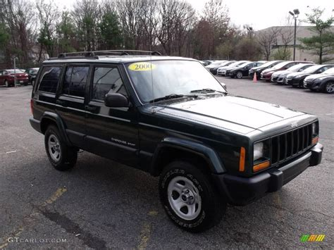2000 green jeep cherokee 2000 forest green pearl jeep cherokee sport 4x4 22215905