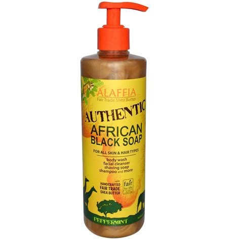 Afro Biscuit Liquid alaffia authentic black soap peppermint 16 fl oz 475 ml iherb
