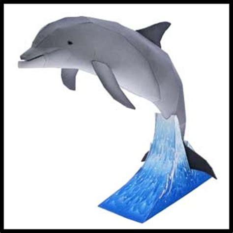 Dolphin Papercraft - animal papercraft bottlenose dolphin paperkraft net