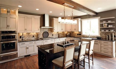kitchens with light cabinets and dark island mullet cabinet alluring color palette kitchen