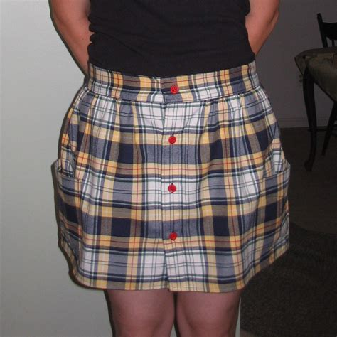 yellow blue plaid skirt sewing projects burdastyle