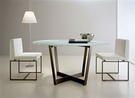 minimalist white dining room set with glass table