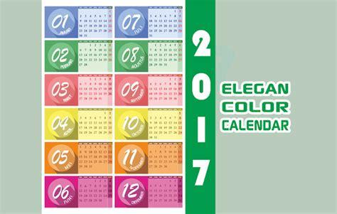 Kalender Dinding 1 2 Sisi Color 2 kalender 2017 elegan color vector cdr ai eps svg png jpg voluvo