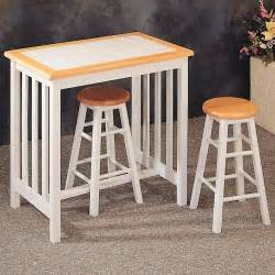 Breakfast Bar Table And Stools White Tile Top Breakfast Bar Table Stool Set By Coaster Home Furnishings 139 99 Some
