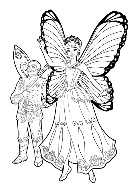 Coloring page - Barbie Queen