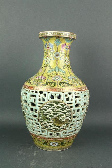 Qianlong Vase by Porcelain Reticulated Vase Qianlong