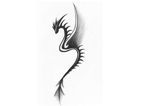 small tribal dragon tattoos small tribal tattoos thin
