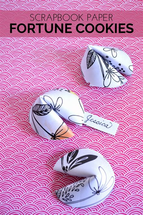 Fortune Cookies Out Of Paper - scrapbook paper fortune cookies