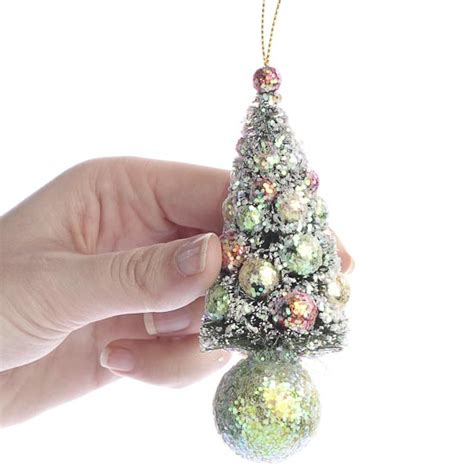 christmas bottle brush tree ornament christmas ornaments