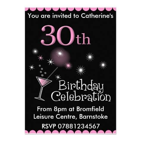 30th invite template birthday invitation template 30th birthday
