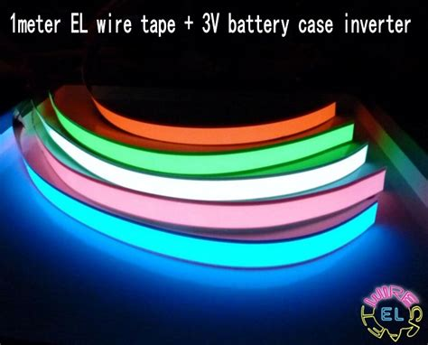 what led light strips or ropes are best to install under 1m el tape flexible neon rope light glow el wire cable