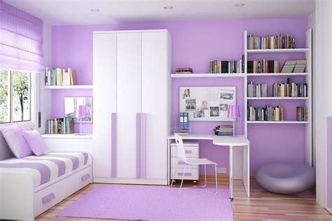fancy white and purple bedroom interior design gor with bookcases privyhomes