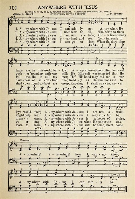 can a service in go anywhere new songs for service 101 anywhere with jesus i can safely go hymnary org