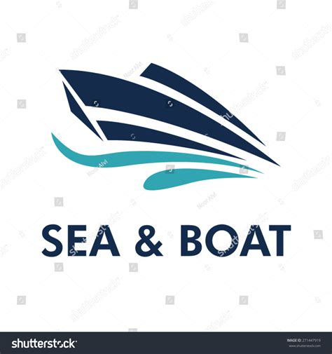 fishing boat brands that start with a boat logo brand identity for boating business stock
