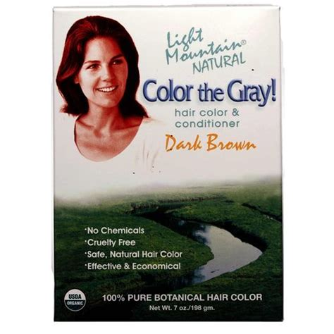 color the gray henna hair color and conditioner light brown light mountain color the gray hair color and