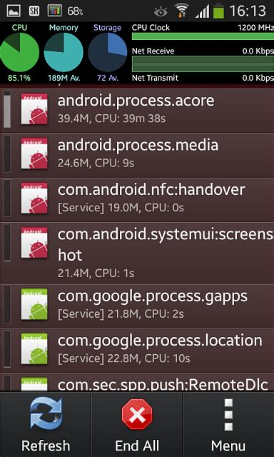 android process problem android process acore android providers applications constant high cpu usage