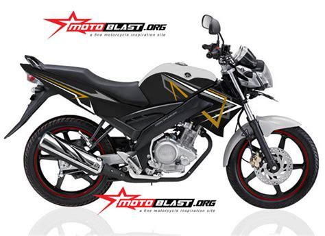 Vixion Black Modification by Modif Striping Yamaha Vixion Black White Simple 2014