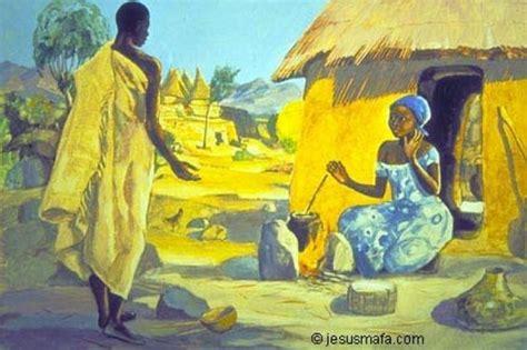 painting on mafa peinture mafa annonciation www jesusmafa black