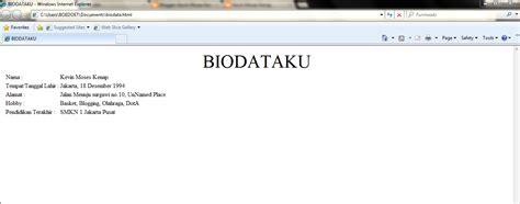 Membuat Web Biodata Dengan Html | membuat biodata diri dengan html yenni meliyanni