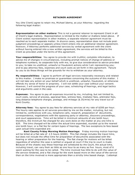 consulting retainer agreement templates 5 retainer template fabtemplatez