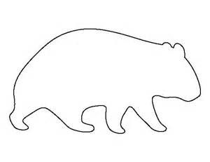 Aboriginal Australian Animal Outlines by Wombat Pattern Use The Printable Outline For Crafts
