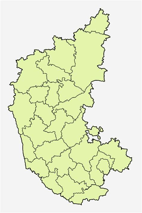 Karnataka District Map Outline by File Karnataka District Blank Png