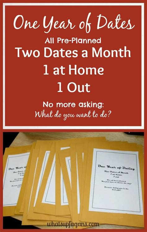 monthly date christmas presents how to make your own year of dates gift