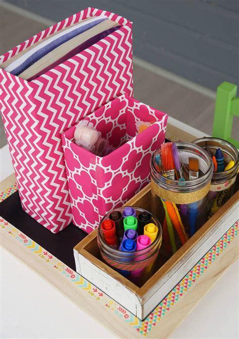 diy craft caddy diy school supplies and craft organizer