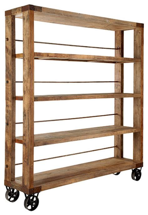 recycled pine wood bookcase traditional bookcases by