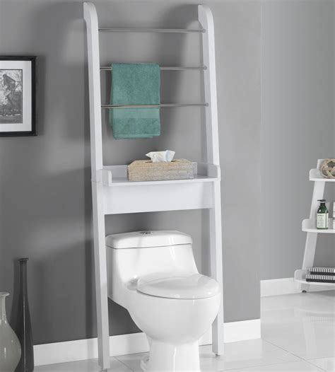 the toilet storage unit in the toilet shelving