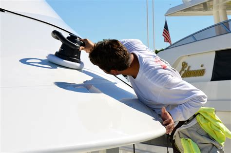 boat wax nz cut and polish total yacht care