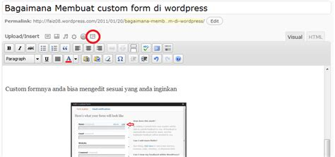 membuat form wordpress bagaimana membuat custom form di wordpress tutorial