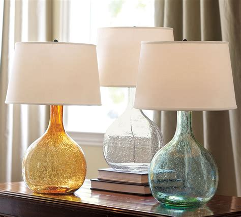 the pottery barn eva colored glass table lamp 99 has