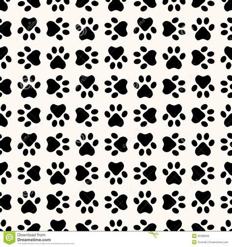 photoshop pattern footprint seamless animal pattern of paw footprint stock vector