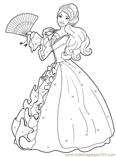preschool coloring pages princess print a princess free printable coloring page