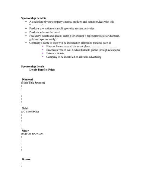 Sle Letter For Product Sponsorship Sle Of Sponsorship Letter