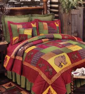 rustic lodge quilt and bedding