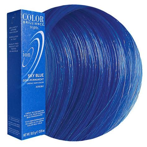 ion color brilliance sky blue sky blue semi permanent hair color this is so me ion