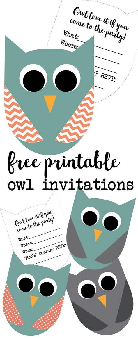 printable owl invitation best 25 owl birthday invitations ideas on pinterest