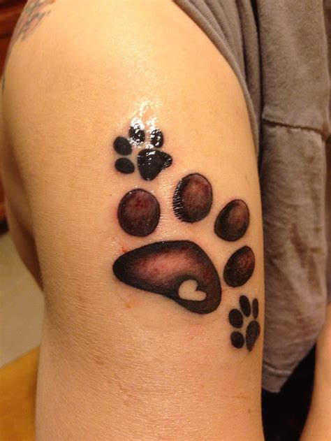 40 amazing dog paw tattoo design ideas