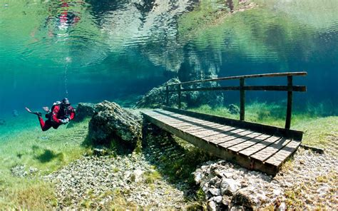 Austria Search Austria S Magical Green Lake Disappears In The Winter Travel Leisure