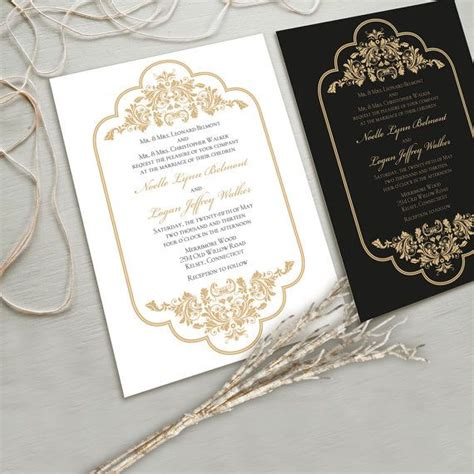 black white and gold wedding invitations timeless and wedding invitation suite white and gold black and gold other color