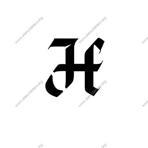 gothic calligraphy uppercase lowercase letter stencils